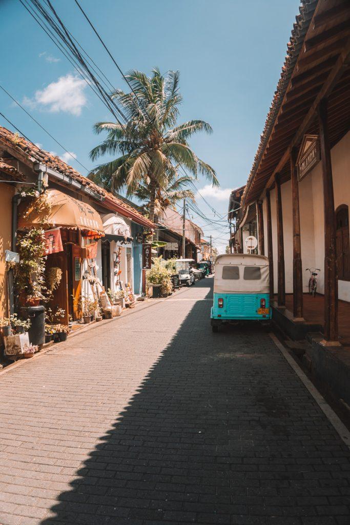 Eindig de Sri Lanka reisroute in Galle