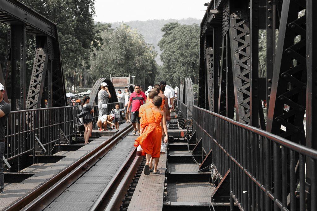 De spoorweg bij Kanchanaburi in Thailand