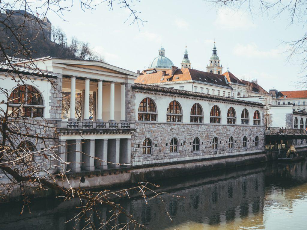 De binnenstad van Ljubljana