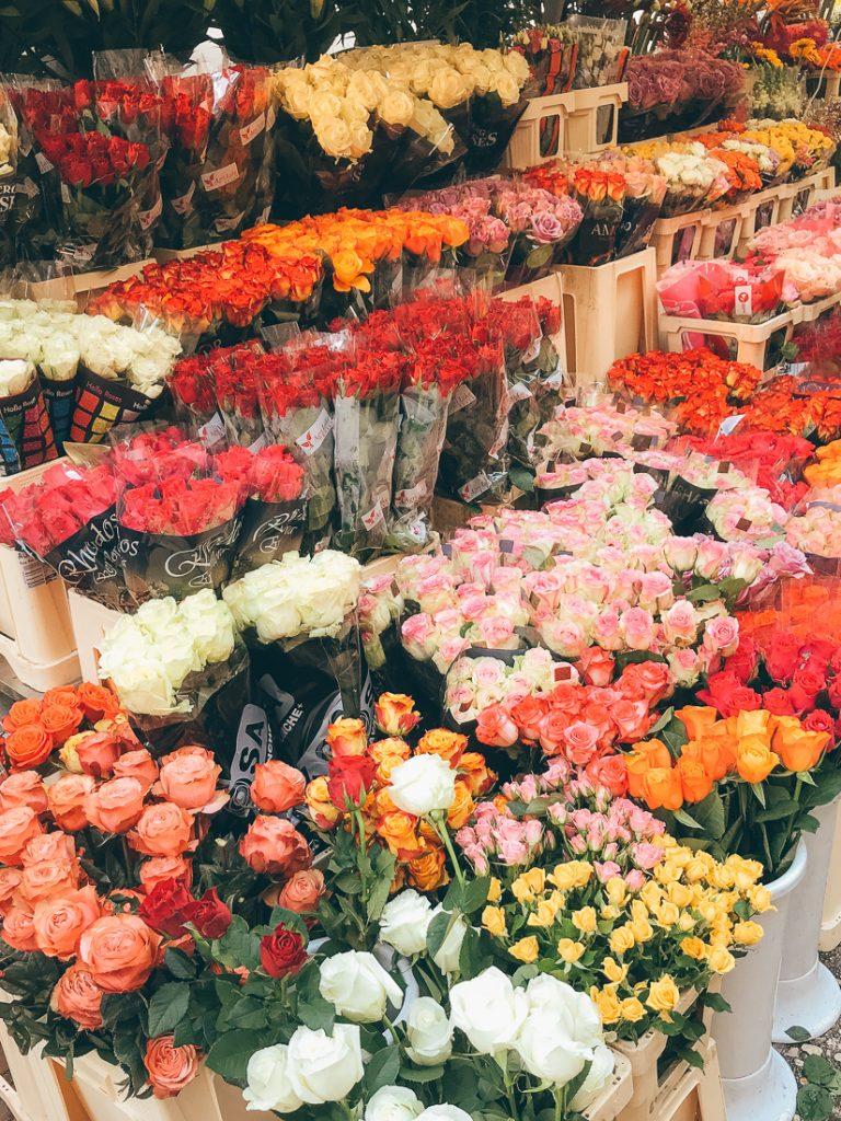 Bloemen op de Centrale Markt