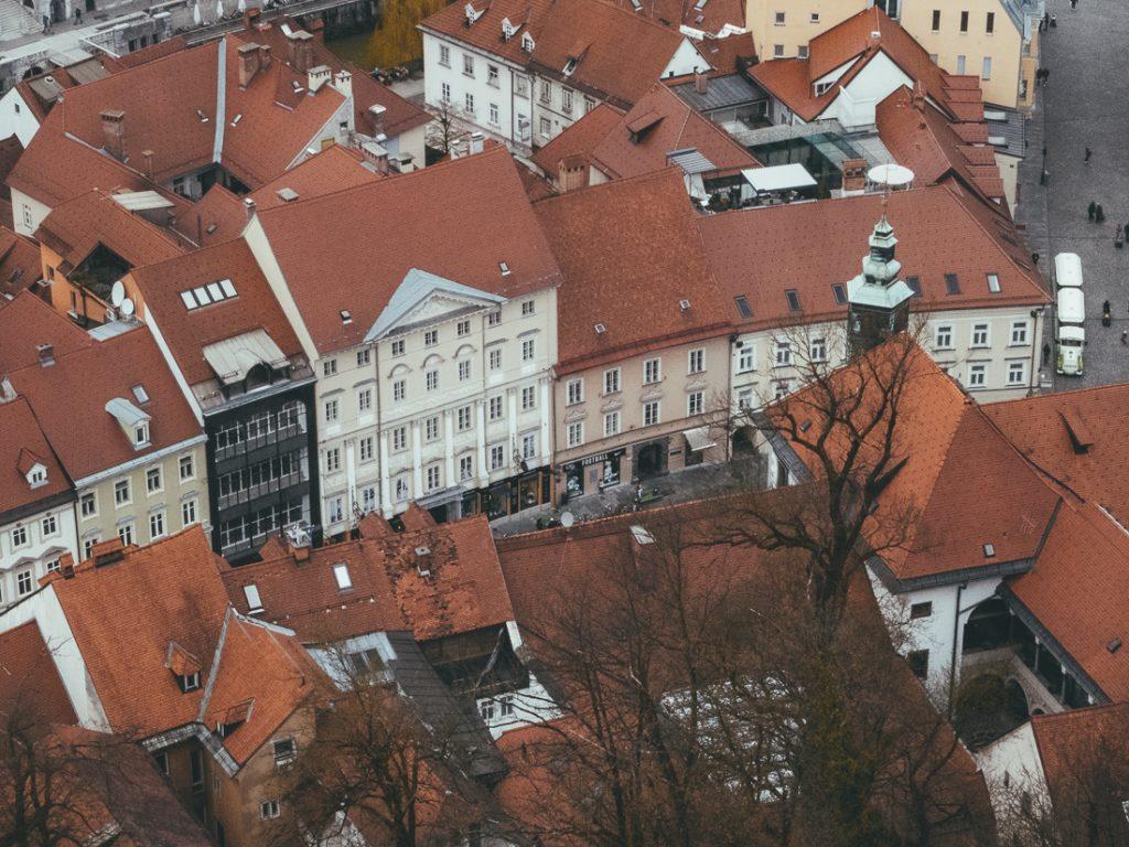 Uitzicht op de bezienswaardigheden van Ljubljana