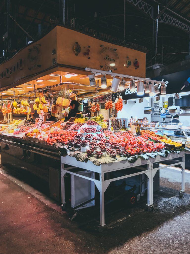 De markt in Barcelona centrum