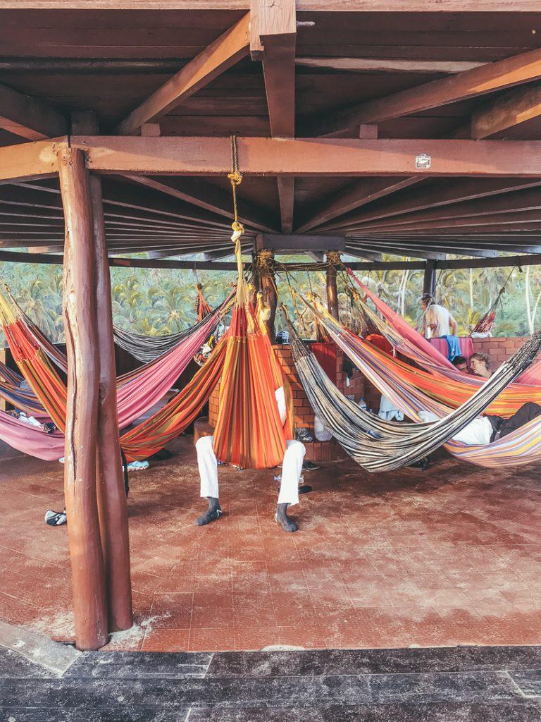 De hangmatten op de Mirador.
