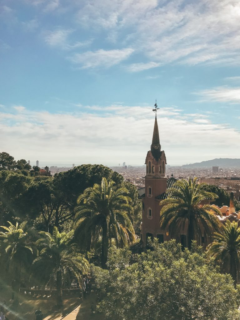 Uitzicht vanaf Park Güell