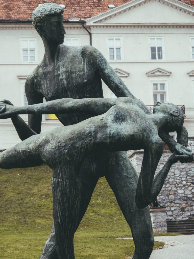 Standbeelden in Park Tivoli.