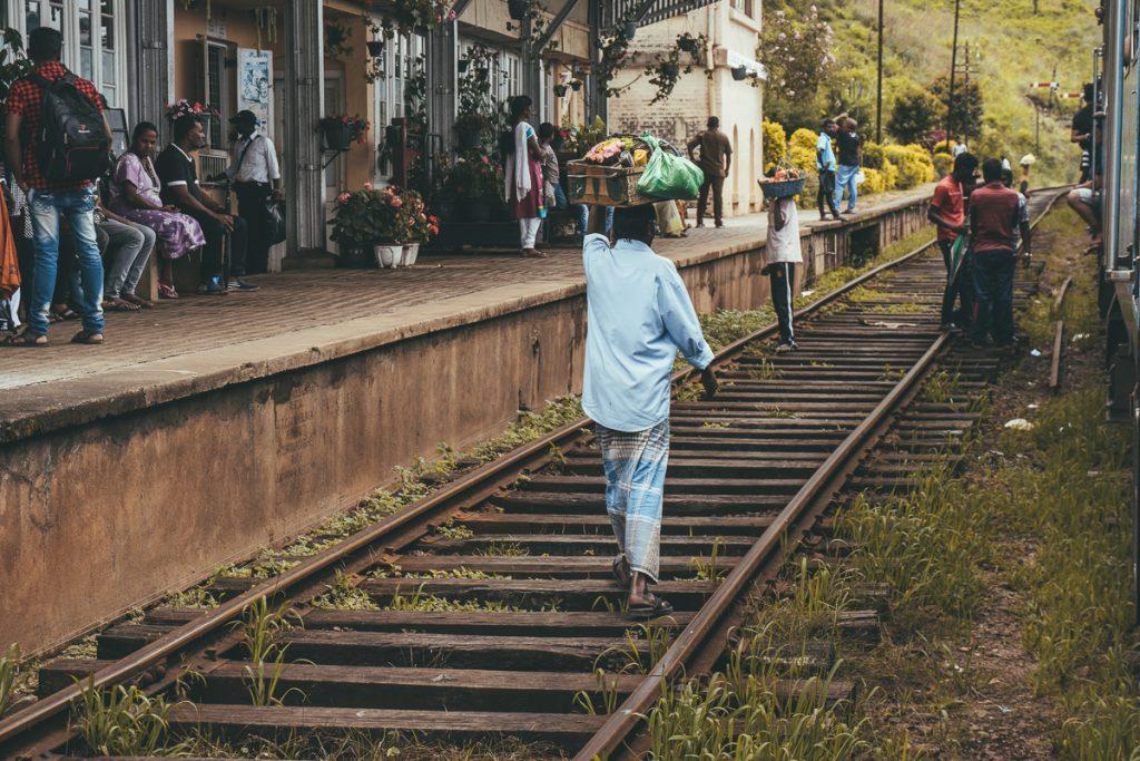 Treinstation in Sri Lanka