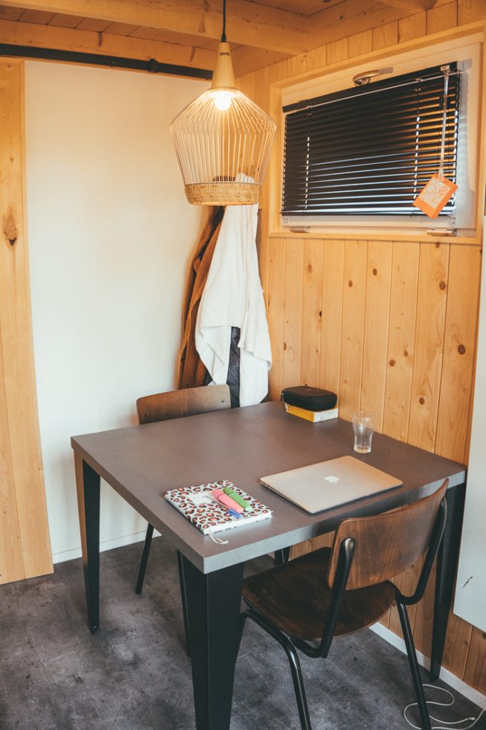 De eettafel in de tiny house