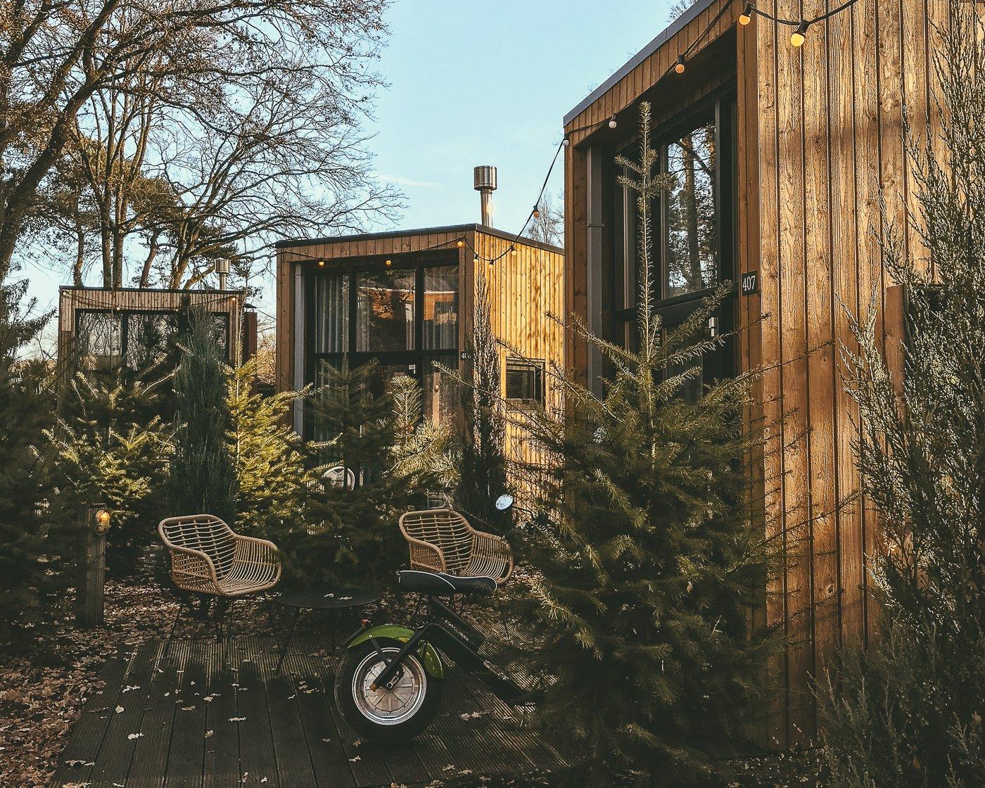 Tiny house op Droompark Maasduinen in Limburg