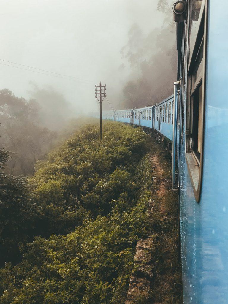 Treinreis door de theevelden
