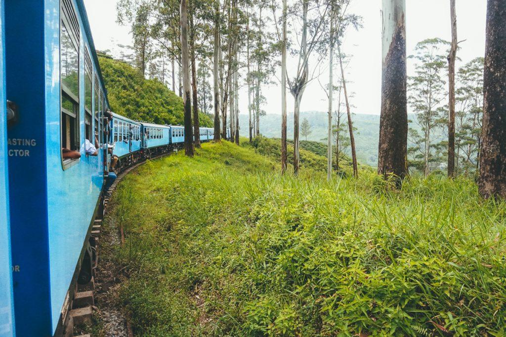 De treinreis van Kandy naar Ella