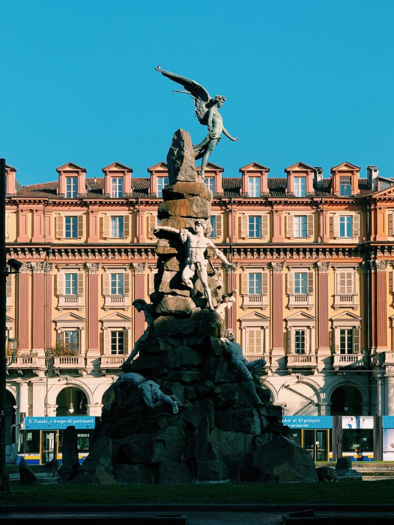 Het centrale plein in de stad