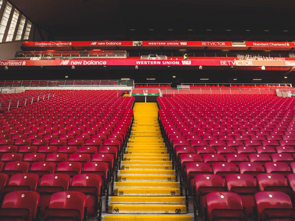 Het stadion van FC Liverpool
