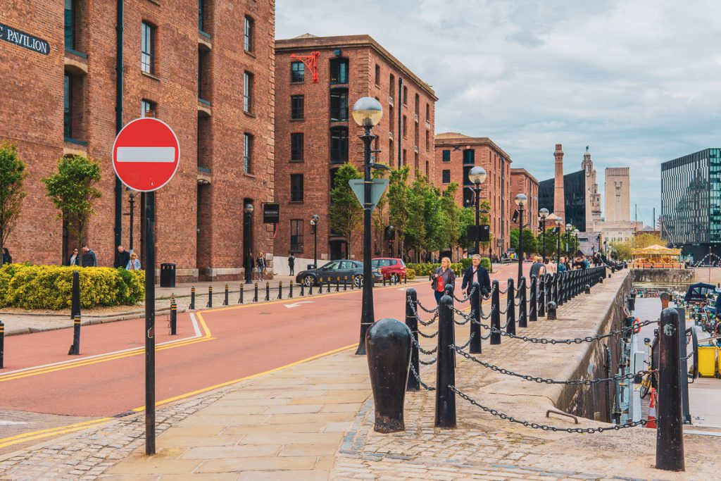 Het centrum van Liverpool