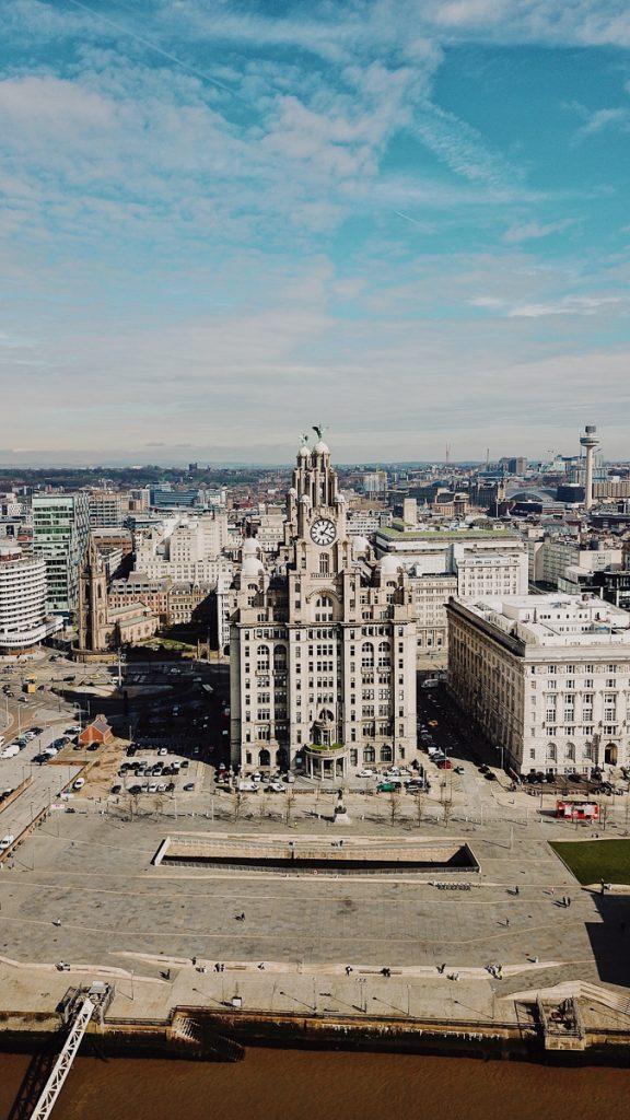 Prachtig gebouw in Liverpool stad