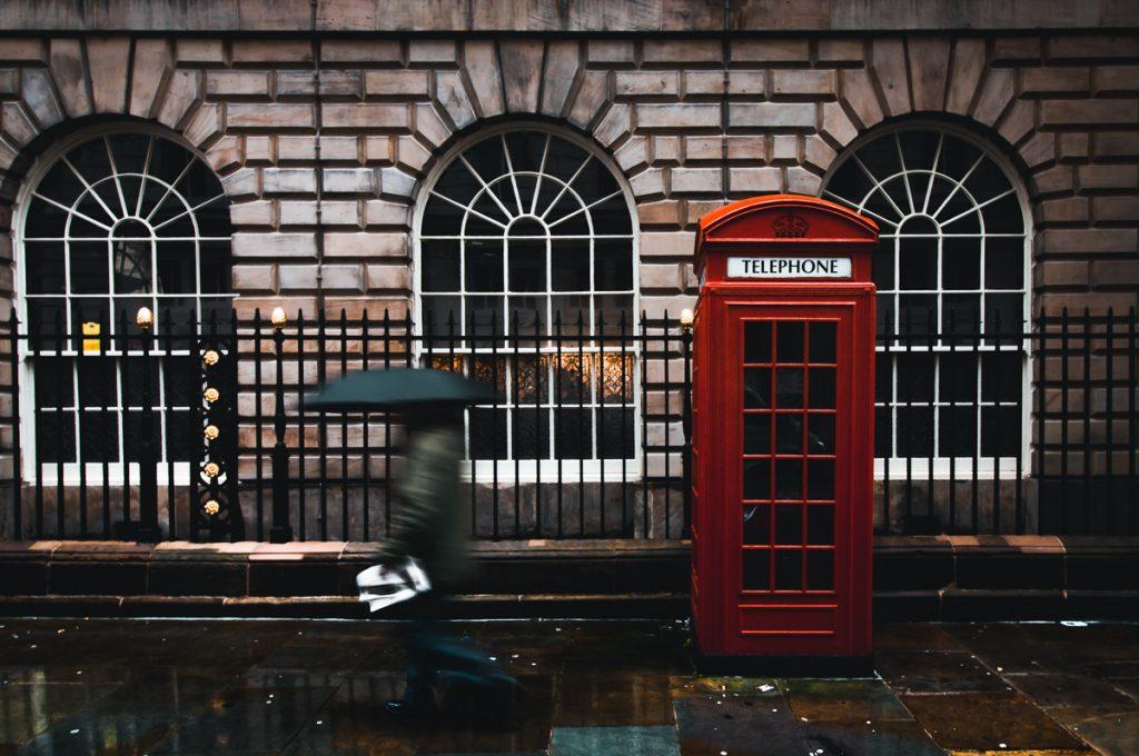 Het typische straatbeeld van Engeland
