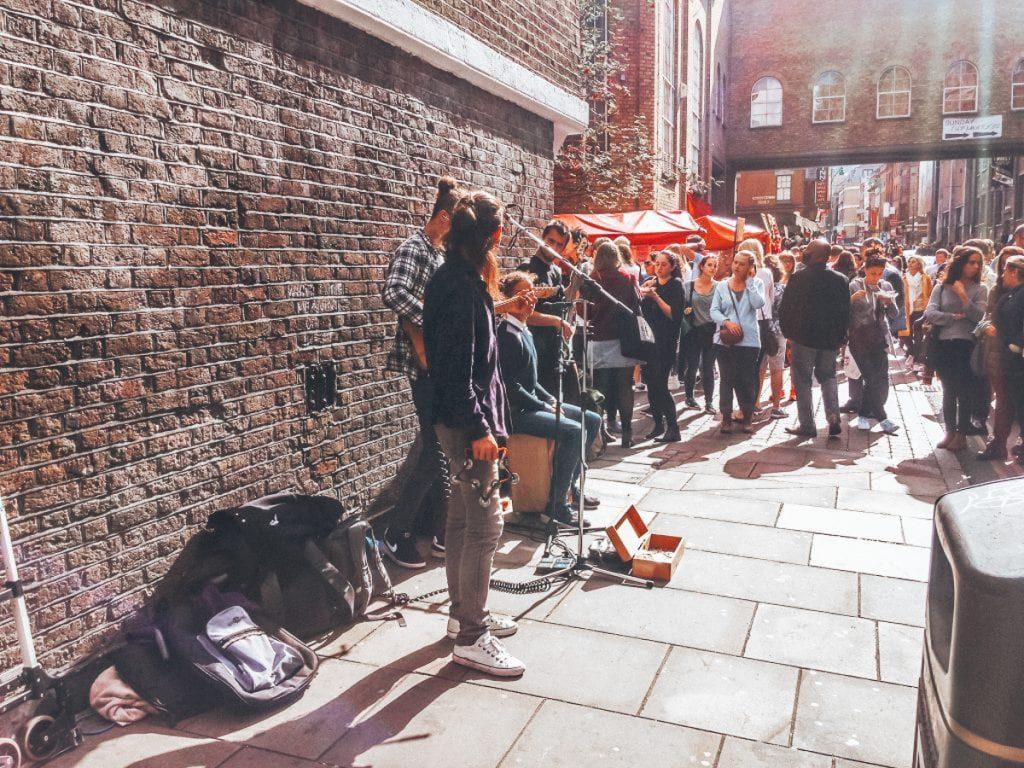 Straatartiesten in Shoreditch
