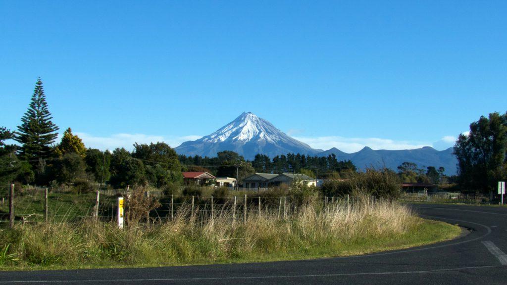 Mount Taranaki nabij Stratford