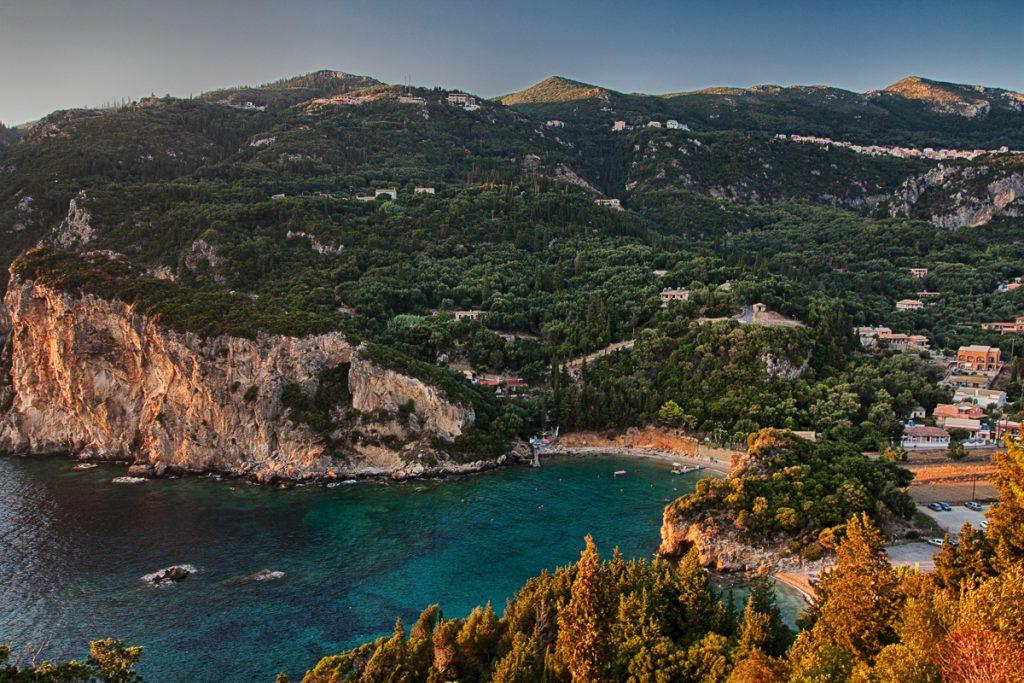 Paleokastritsa is één van de mooiste plekken van Corfu