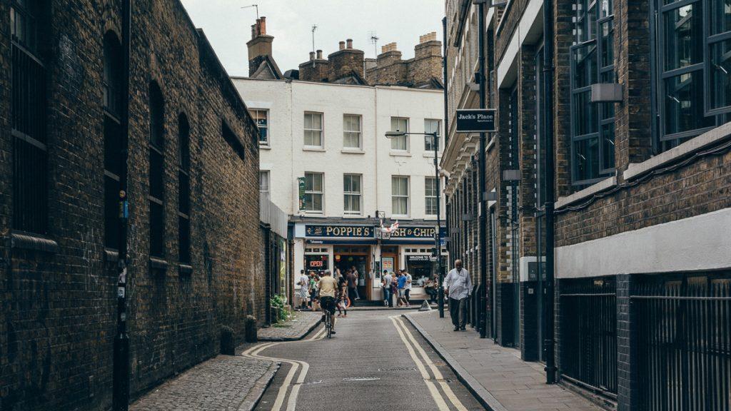 De straten rondom Brick Lane