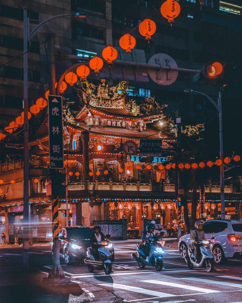 Het straatbeeld van Taiwan