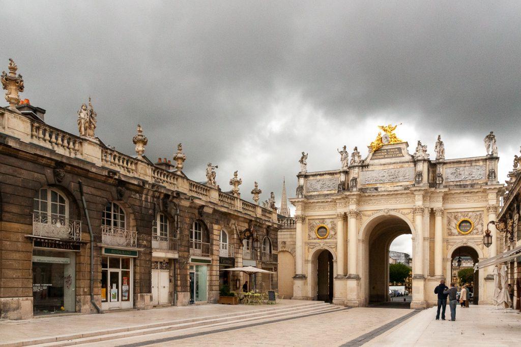 Oude gebouwen in Nancy in Frankrijk
