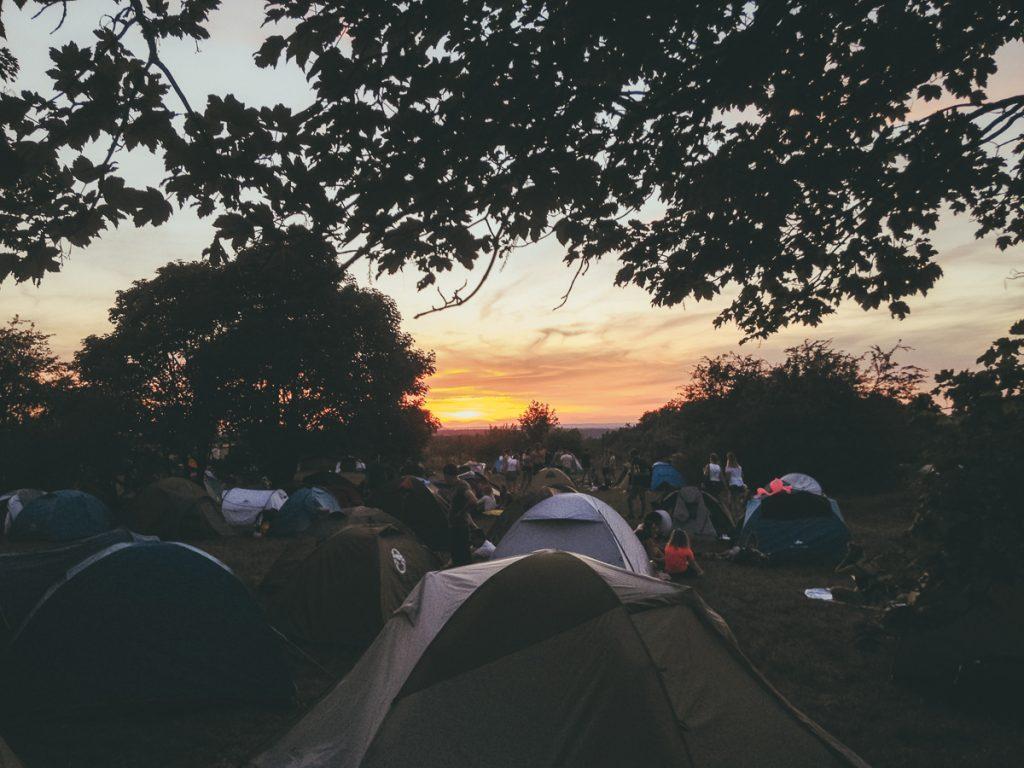 Een camping in Frankrijk