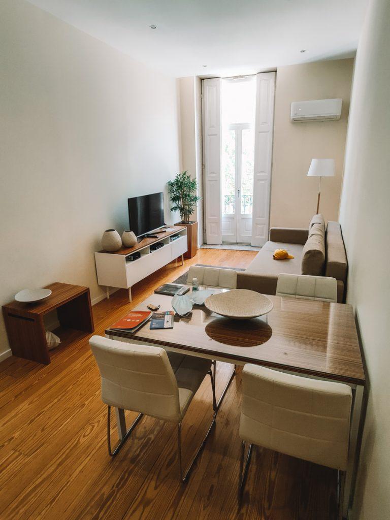 Woonkamer van het appartement in Porto