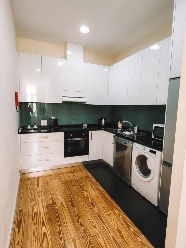 De keuken van het appartement