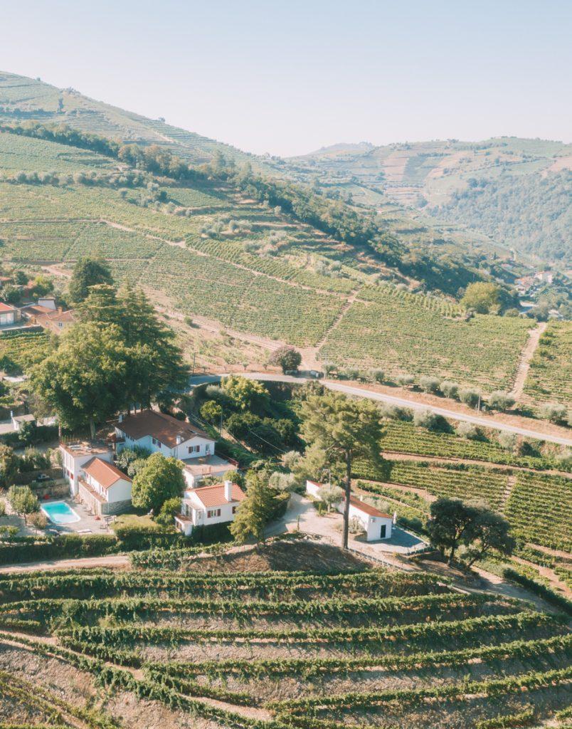 Een foto van bovenaf van Quinta da Pousada