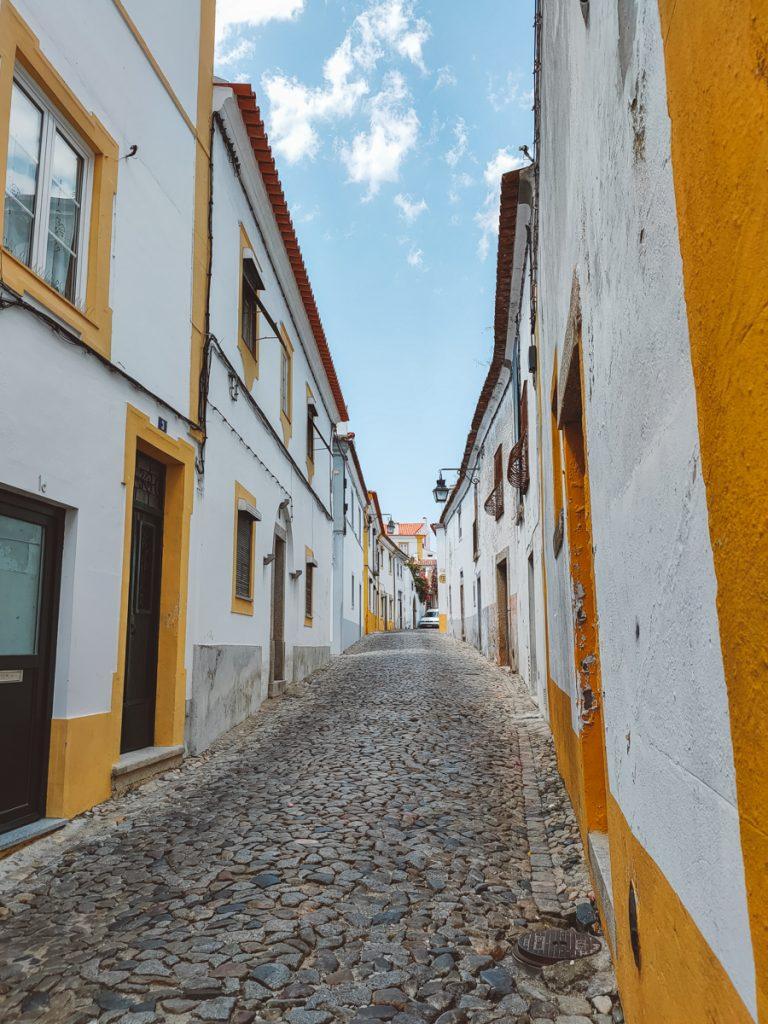 Evora centrum in Portugal