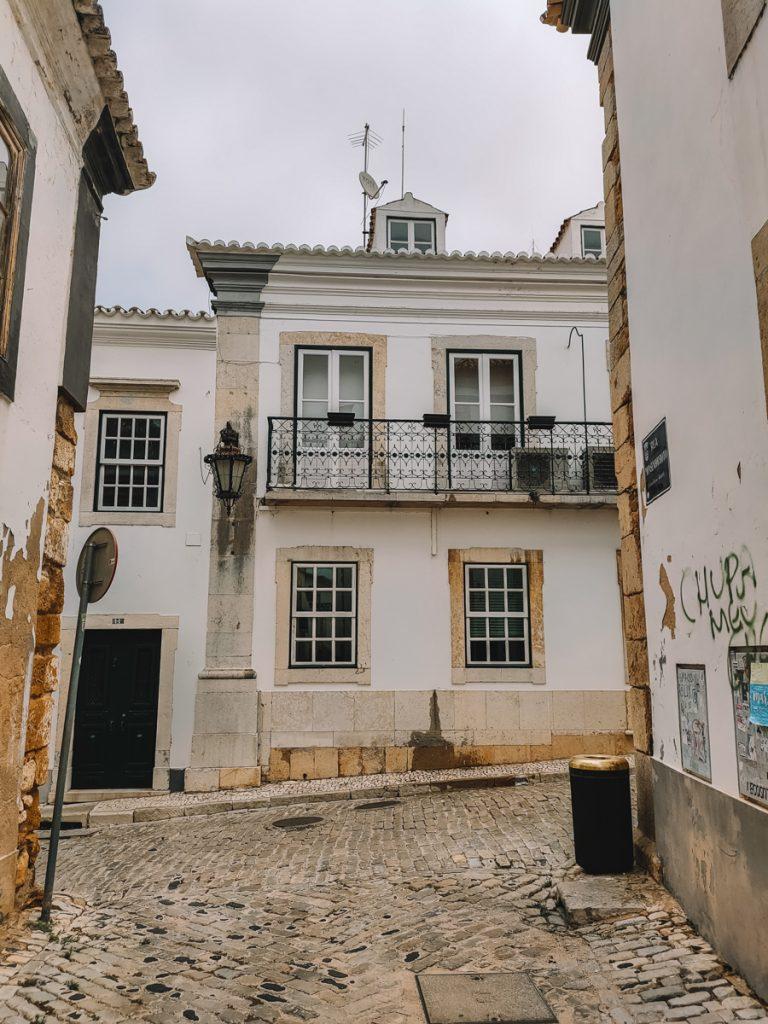 Oude panden in het centrum van Faro