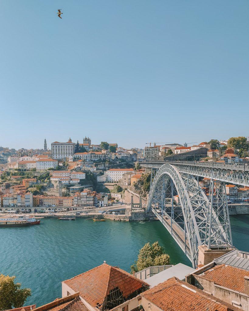 Uitzicht over Porto vanaf de overkant