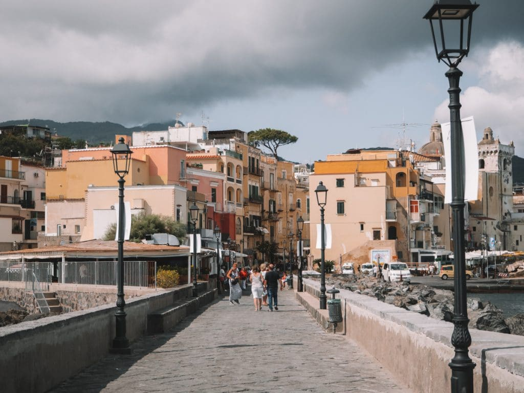 Uitzicht op Ischia Ponte