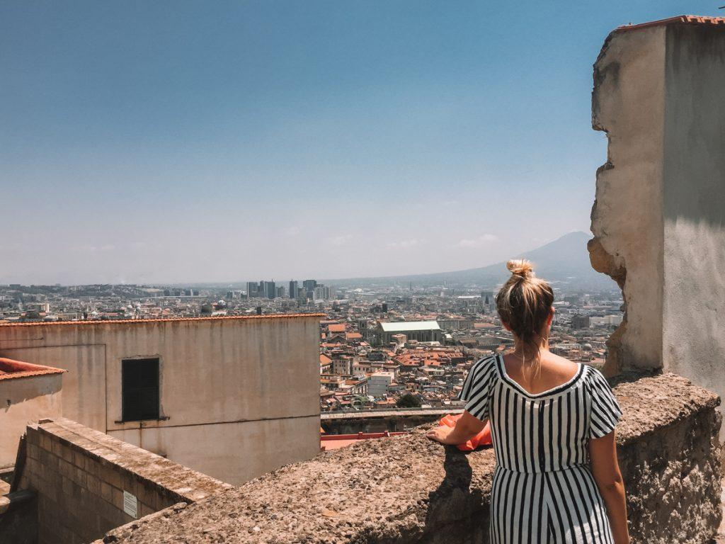 Het uitzicht vanaf het hoogste kasteel van Napels