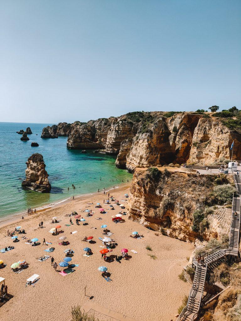 Praia do Camilo is naar mijn mening het mooiste strand in de Algarve