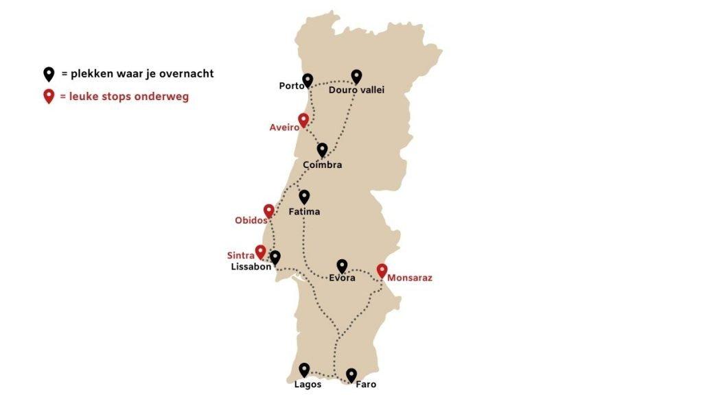 De ideale route voor een roadtrip in Portugal