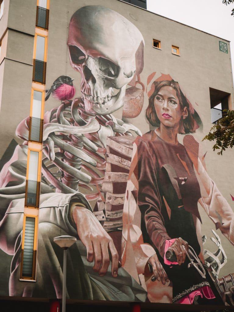 Street art tijdens een dagje Rotterdam