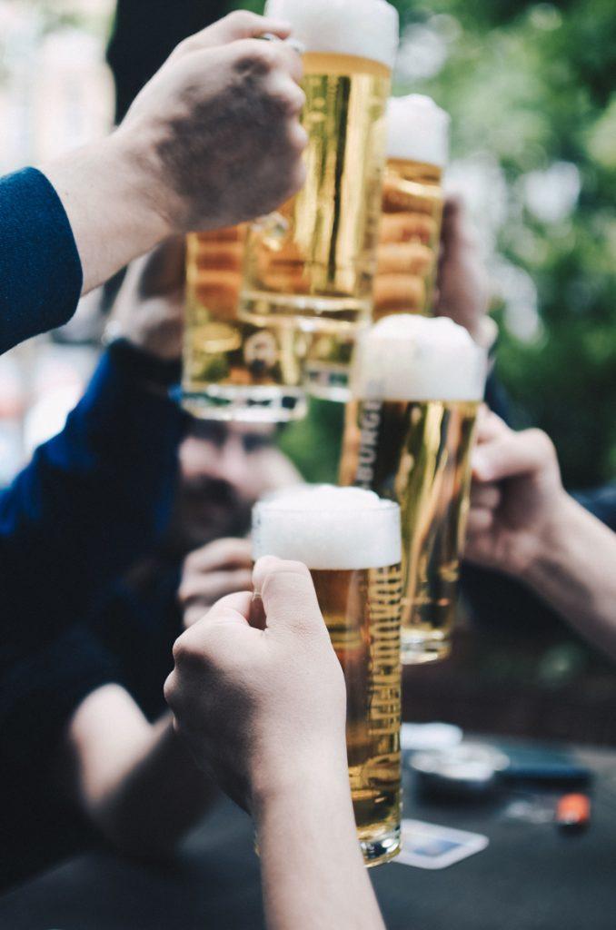 Bier in de tuin