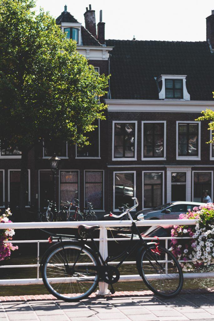 De herenhuizen met fietsen