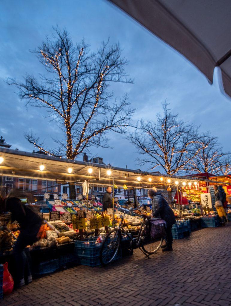 De markt in de binnenstad