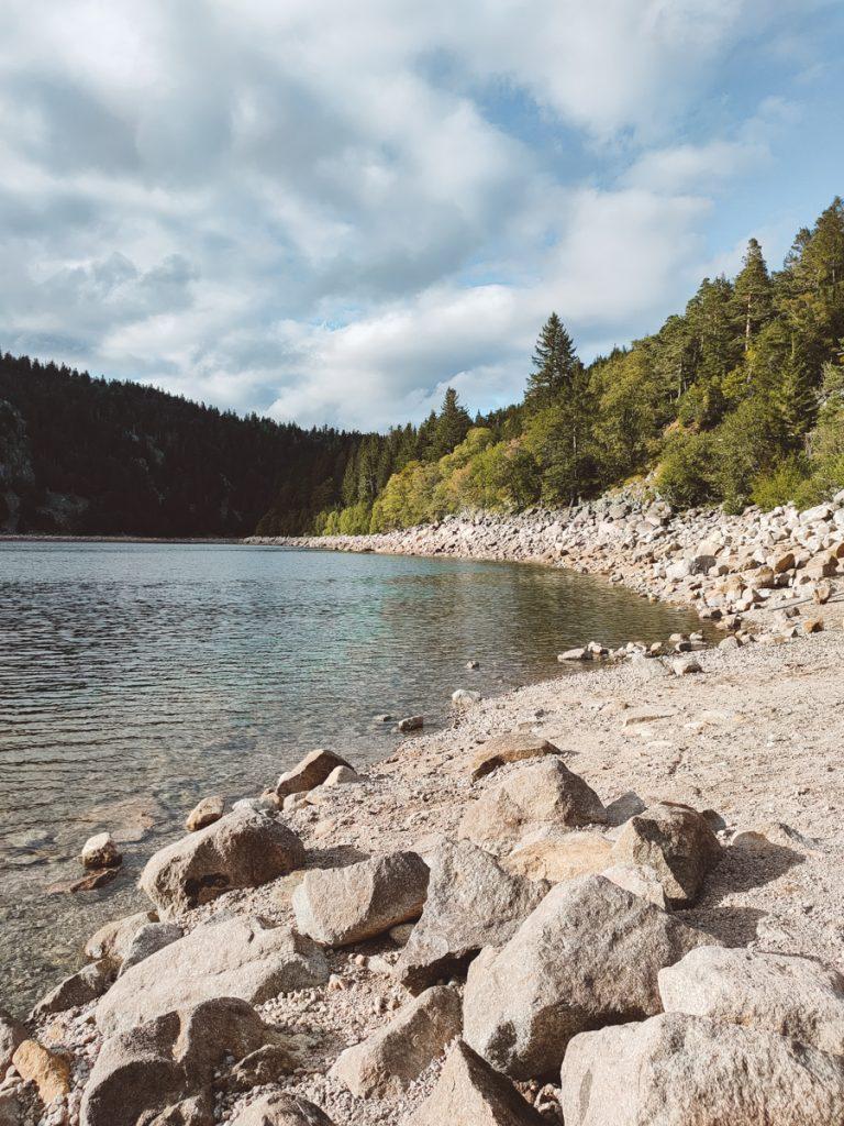 Een van de meren in de Vogezen