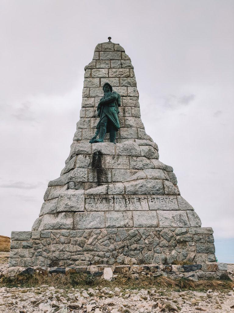 Het monument op top van de Grand Ballon