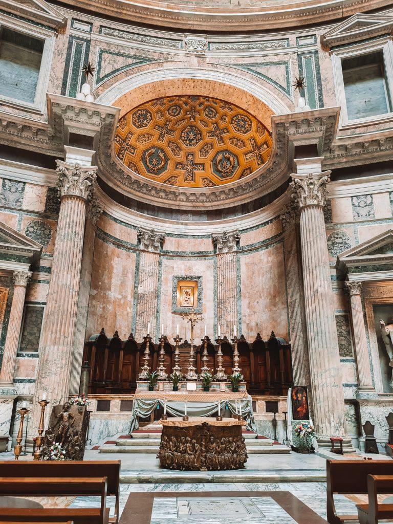Het Pantheon is een van de highlights in Rome