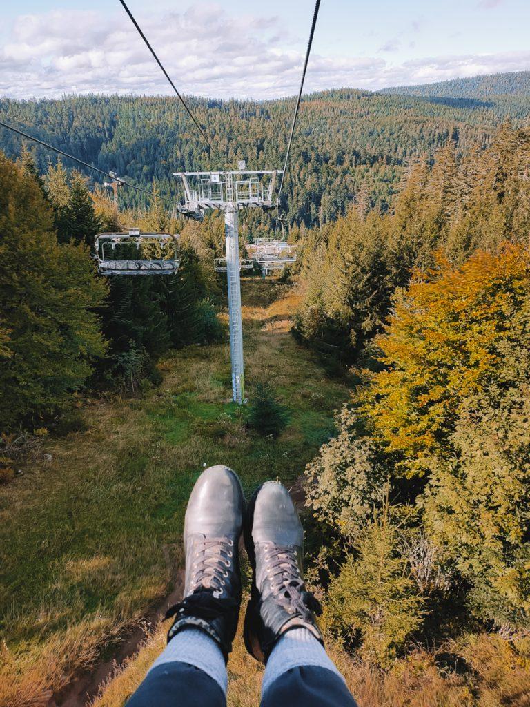 Met de skilift omhoog