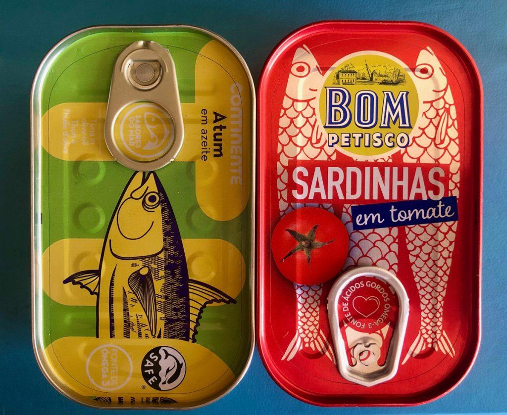 Vis in blik zijn typisch Portugese producten