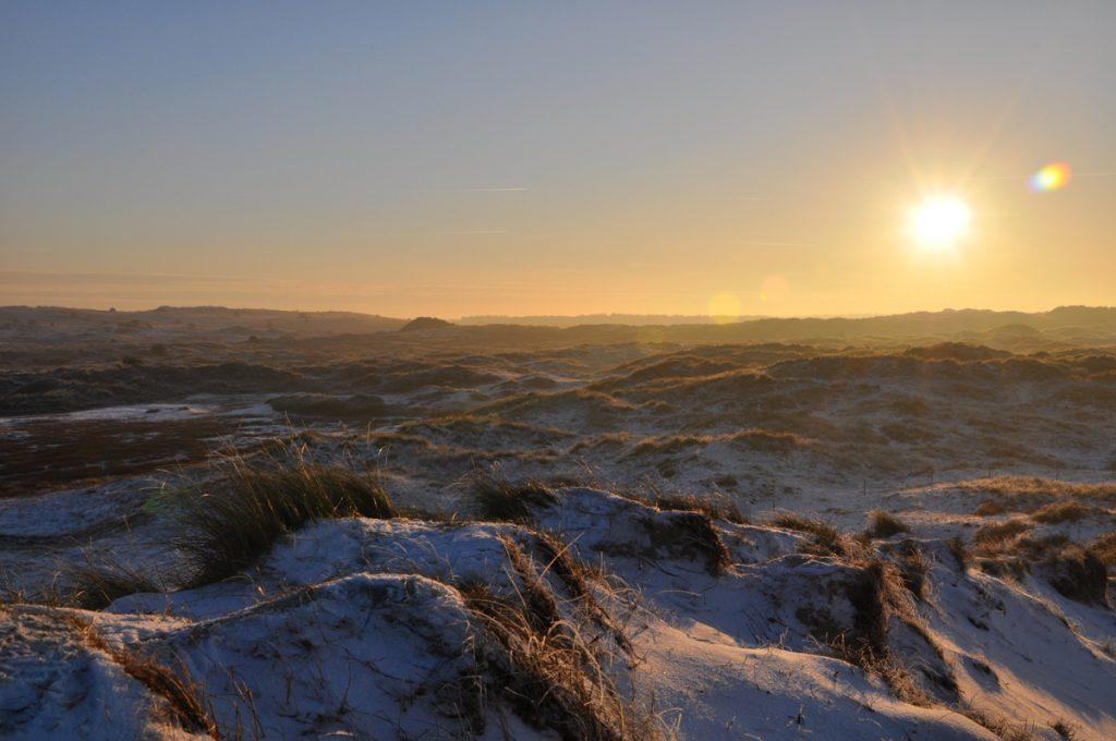 Prachtige zonsondergang in de duinen