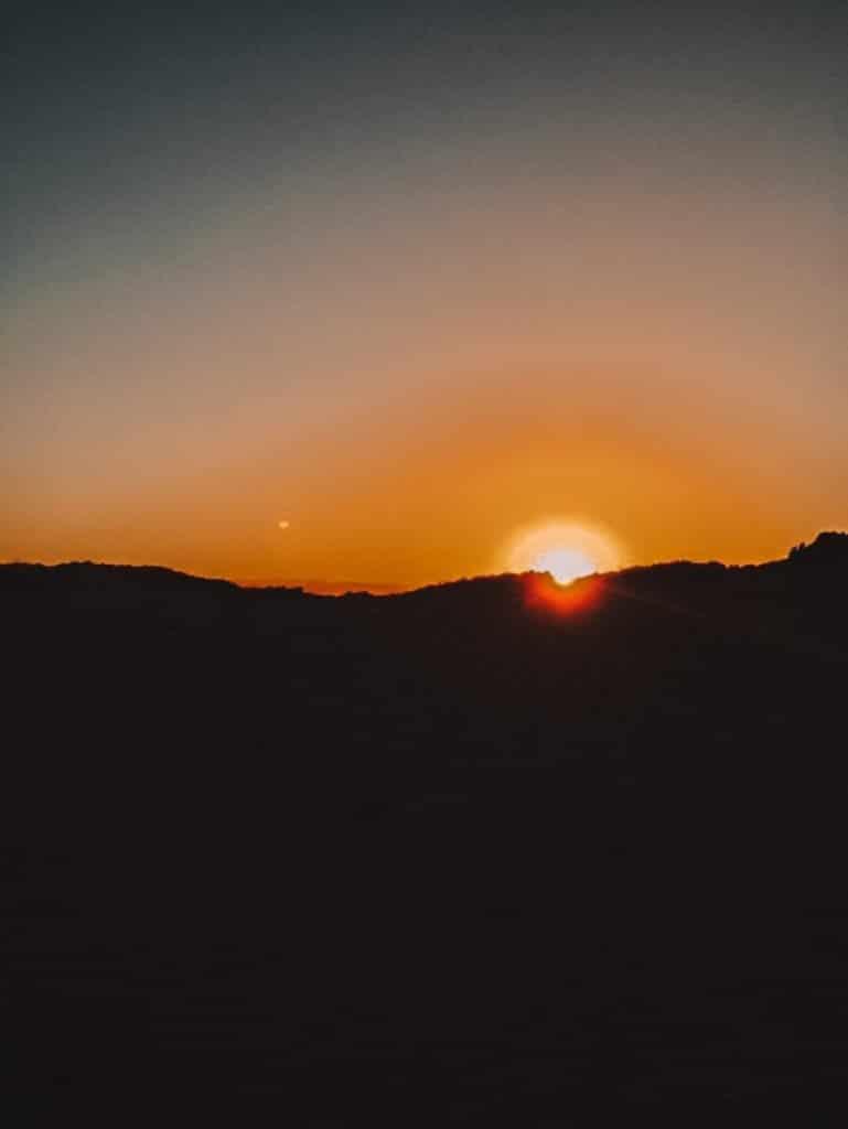 Zonsondergang bij de vuurtoren van Vlieland