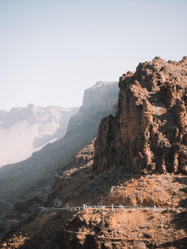 Het uitzicht van Degollada de La Yegua