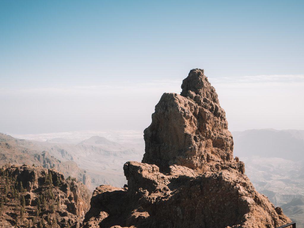 Het uitzicht vanaf Mirador pico de los pozos