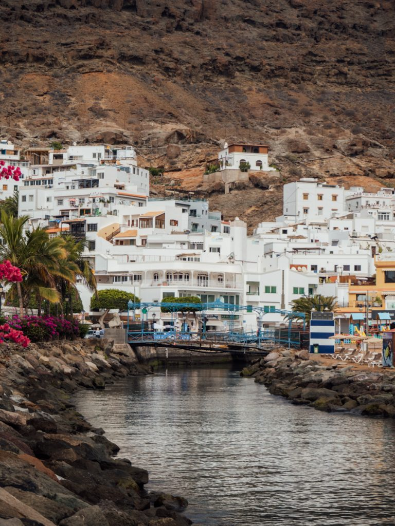 Het centrum van Puerto de Mogán op Gran Canaria